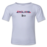 England 2014 FIFA World Cup Brazil(TM) Kid's Palm T-Shirt (White)
