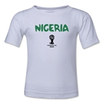 Nigeria 2014 FIFA World Cup Brazil(TM) Kid's Core T-Shirt (White)