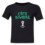 Cote d'Ivoire 2014 FIFA World Cup Brazil(TM) Kid's Core T-Shirt (Black)
