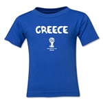 Greece 2014 FIFA World Cup Brazil(TM) Kid's Core T-Shirt (Royal)