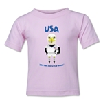 USA 2014 FIFA World Cup Brazil(TM) Kids Mascot T-Shirt (Pink)