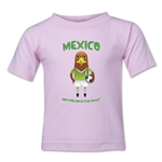 Mexico 2014 FIFA World Cup Brazil(TM) Kids Mascot T-Shirt (Pink)