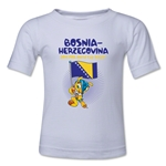 Bosnia-Herzegovina 2014 FIFA World Cup Brazil(TM) Kids Mascot Flag T-Shirt (White)