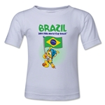 Brazil 2014 FIFA World Cup Brazil(TM) Kids Mascot Flag T-Shirt (White)