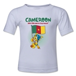 Cameroon 2014 FIFA World Cup Brazil(TM) Kids Mascot Flag T-Shirt (White)