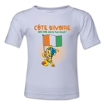 Cote d'Ivoire 2014 FIFA World Cup Brazil(TM) Kids Mascot Flag T-Shirt (White)
