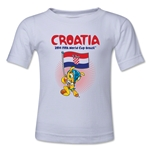 Croatia 2014 FIFA World Cup Brazil(TM) Kids Mascot Flag T-Shirt (White)