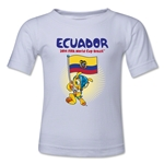 Ecuador 2014 FIFA World Cup Brazil(TM) Kids Mascot Flag T-Shirt (White)