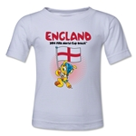 England 2014 FIFA World Cup Brazil(TM) Kids Mascot Flag T-Shirt (White)