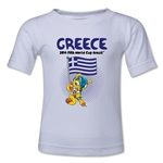 Greece 2014 FIFA World Cup Brazil(TM) Kids Mascot Flag T-Shirt (White)