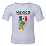 Mexico 2014 FIFA World Cup Brazil(TM) Kids Mascot Flag T-Shirt (White)