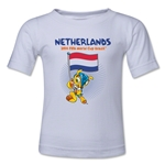 Netherlands 2014 FIFA World Cup Brazil(TM) Kids Mascot Flag T-Shirt (White)