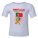 Portugal 2014 FIFA World Cup Brazil(TM) Kids Mascot Flag T-Shirt (White)