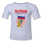 Russia 2014 FIFA World Cup Brazil(TM) Kids Mascot Flag T-Shirt (White)