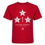 USA Women's World Cup Champions Kids T-Shirt (Red)