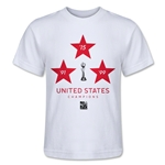 USA Women's World Cup Champions Kids T-Shirt (White)