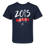 USA Women's World Cup Champions Kids T-Shirt (Navy)