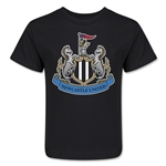 Newcastle United Crest Kids T-Shirt (Black)
