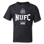 Newcastle United Distressed NUFC Kids T-Shirt (Black)