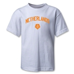 Netherlands Distressed Kids T-Shirt (White)