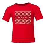 FC Santa Claus Christmas Sweater Kid's T-Shirt (Red)