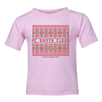 FC Santa Claus Christmas Sweater Kid's T-Shirt (Pink)