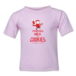 FC Santa Claus Milk and Cookies Kid's T-Shirt (Pink)