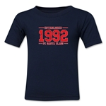 FC Santa Claus Established 1992 Kid's T-Shirt (Navy)