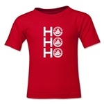 FC Santa Claus Ho, Ho, Ho Kid's T-Shirt (Red)