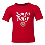 FC Santa Claus Santa Baby Kid's T-Shirt (Red)