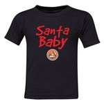 FC Santa Claus Santa Baby Kid's T-Shirt (Black)