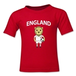 England Animal Mascot Kids T-Shirt (Red)