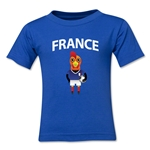 France Animal Mascot Kids T-Shirt (Royal)