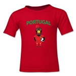 Portugal Animal Mascot Kids T-Shirt (Red)