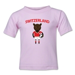 Switzerland Animal Mascot Kids T-Shirt (Pink)