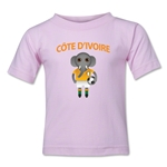 Cote d'Ivoire Animal Mascot Kids T-Shirt (Pink)