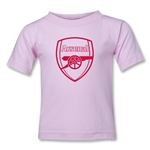 Arsenal Crest Toddler T-Shirt (Pink)