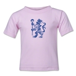 Chelsea Distressed Logo Toddler T-Shirt (Pink)