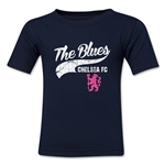 Chelsea The Blues Script Toddler T-Shirt (Navy)