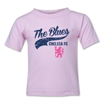 Chelsea The Blues Script Toddler T-Shirt (Pink)
