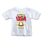USA CONCACAF Gold Cup 2013 Champions Toddler T-Shirt (White)