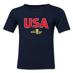 USA CONCACAF Gold Cup 2015 Big Logo Toddler T-Shirt (Navy)