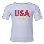USA CONCACAF Gold Cup 2015 Big Logo Toddler T-Shirt (White)
