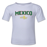 Mexico CONCACAF Gold Cup 2015 Big Logo Toddler T-Shirt (White)