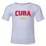 Cuba CONCACAF Gold Cup 2015 Big Logo Toddler T-Shirt (White)