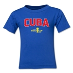 Cuba CONCACAF Gold Cup 2015 Big Logo Toddler T-Shirt (Royal)