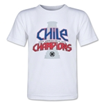 Chile Copa American 2015 Champions Toddler T-Shirt (White)