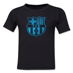 Barcelona Striped Logo Toddler T-Shirt (Black)
