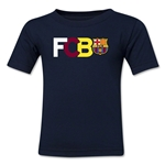Barcelona Big Letter Toddler T-Shirt (Navy)