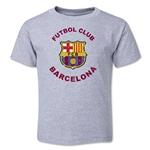 Barcelona Futbol Club Distressed Toddler T-Shirt (Gray)